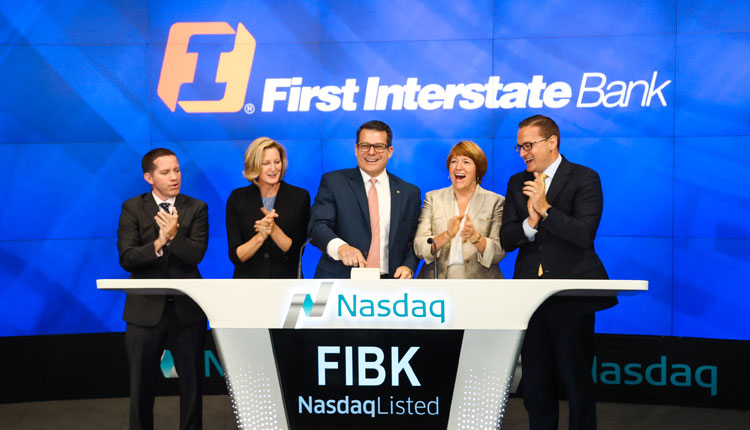 First Interstate Bank Rings Nasdaq Opening Bell