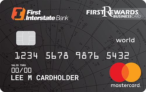 Business credit cards first interstate bank firstrewards world mastercard for business empowers you to do business wherever you need to be this cards rich rewards and card benefits give you the reheart Images